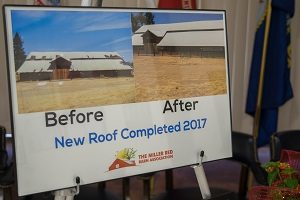 New roof, before and after 2017
