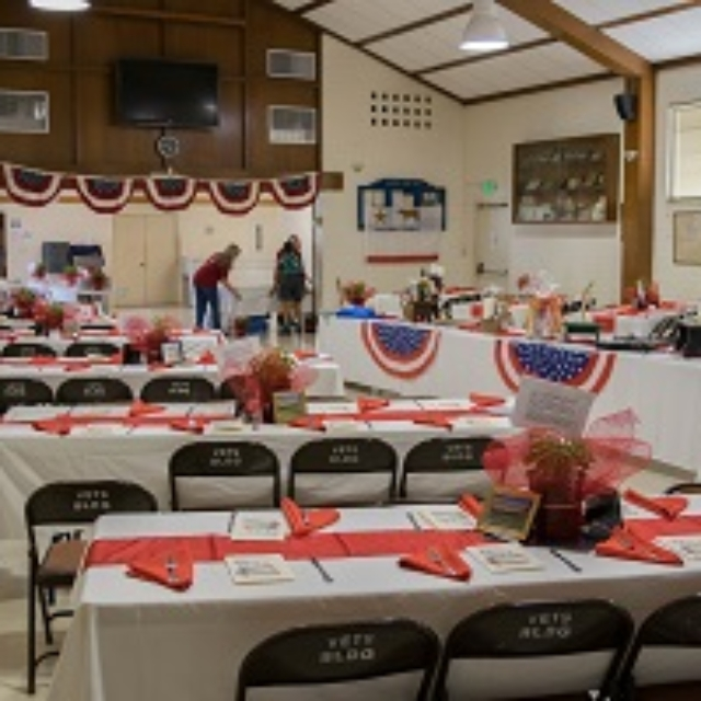 hall,tables,chairs,decorated
