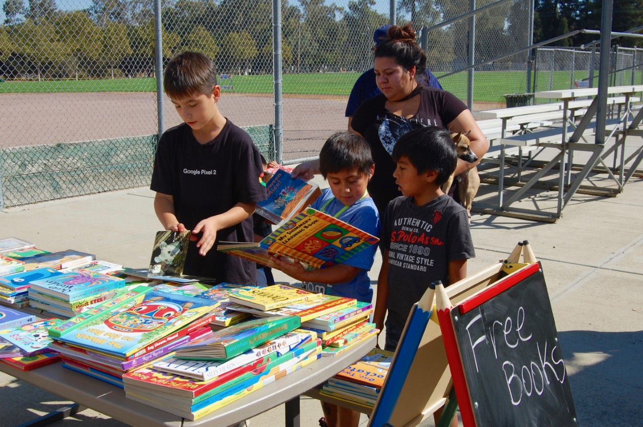 Free books were given to all of the children.