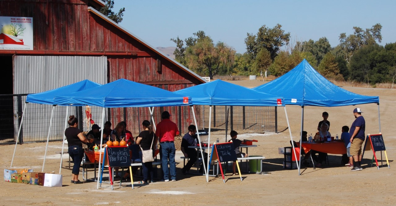 The project tents were busy all day.