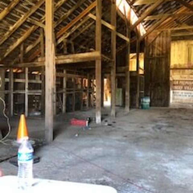 barn,dirt floor,posts,rafters
