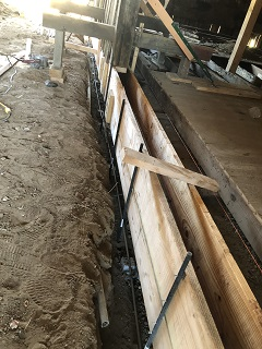 trench,frame,foundation