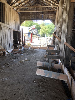 truck,cement,breezeway,framing