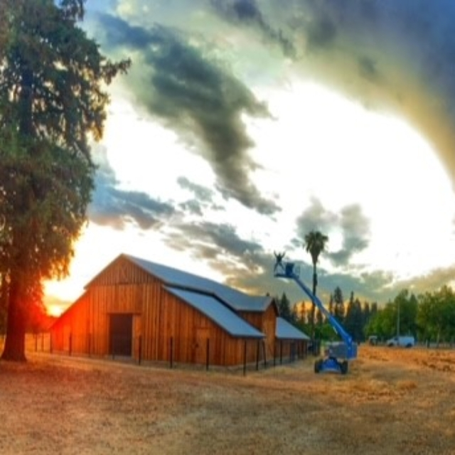 barn,trees,clouds,trees
